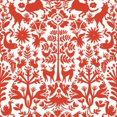 der Wal die Rehe die Pflanzenkombo  temporary fabric wallpaper from Hygge  West - for on the fridge