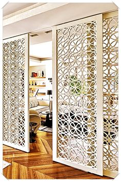 Home Interior Design ~ How To Make Your Home Improvement Project Work Without Any Problems >>> We do hope you actually enjoy our image. Wooden Partition Design, Wooden Partitions, Living Room Partition Design, Room Partition Designs, Room Partitions, Sliding Door Design, Home Room Design, Home Interior Design, Luxury Homes Exterior