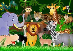 Cartoon Jungle Animals | ... please write the description of your favorite animal in the project