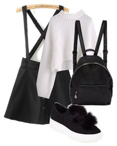 """School look Школьный лук"" by vv-vishnevskay ❤ liked on Polyvore featuring WithChic, Steve Madden and STELLA McCARTNEY"