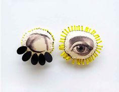 Blinking eye from french artist lyndie dourthe work inspired by anatomy,botany and curiosity