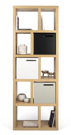 Bibliothèque Rotterdam / L 70 x H 198 cm Chêne - POP UP HOME - Décoration et mobilier design avec Made in Design