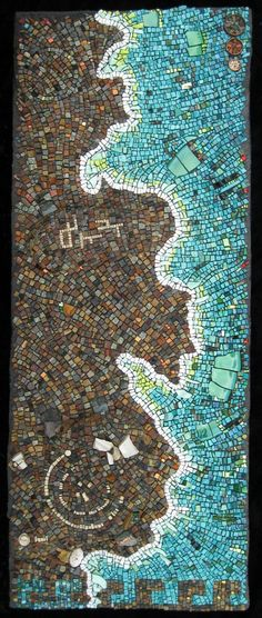 "Rachel Sager ""Ode to a legacy"" mosaic coastline map cartography"