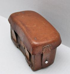 vintage WWII small leather box // distressed by RedTuTuRetro, $35.00