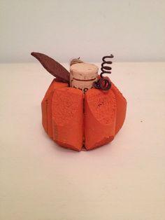 Wine cork pumpkins by CrazyCorkLady on Etsy, $4.75