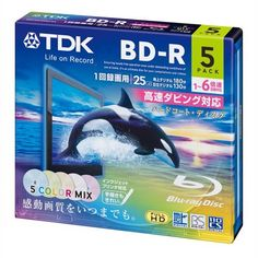 TDK Bluray Disc 25 gb 6x Speed Colorful Printable discs 5 pack in Jewel cases by TDK. $21.00. TDK bluray discs boasting 6X speed for faster recording. Wide blank surface compatible with inkjet printers.