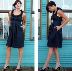 Love these!!! --- Bridesmaid Dress with pockets (made to order in many colors) by AmandaArcher, $165.00