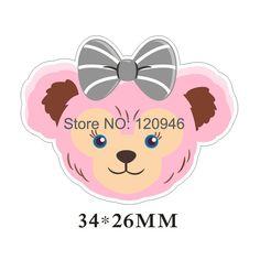 50pcs 34*26MM Kawaii Cartoon Hair Bow Bear Flatback Resin Planar DIY Craft For Mobile Phone&Home Decoration Accessories 70424-1