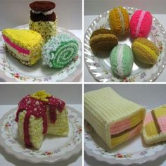 Knitted and crocheted FOOD!!!!!