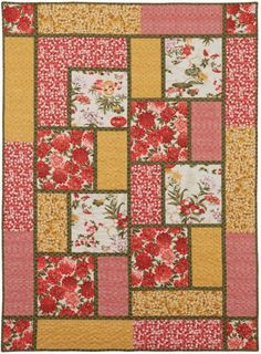 Big Block quilt. Like the limited number of fabrics and fabric placement.