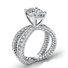 2.22 carats Oval Cut Diamond Engagement Ring set por NatureDiamonds, $5720.00