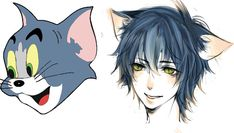 Tom from Tom and jerry animefied