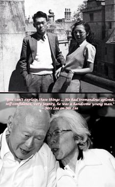 Singapore's beautiful couple... the late Mr and Mrs Lee Kuan Yew. The Nation is in mourning :(