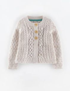 Mini Boden Textured Cable Cardigan