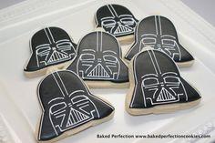 Darth Vader Star Wars Cookies for Birthday Party, Star Wars Movie Night, Star Wars Theme Party. $36.00, via Etsy.