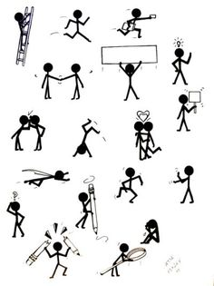 stick figure concepts by jessehenley traditional art drawings other . Stick Figure Tattoo, Stick Figure Drawing, Figure Drawings, Stick Man, Sketch Notes, Cartoon Sketches, Stick Figures, Rock Crafts, Easy Drawings