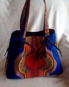 Dashiki handbag. Blue handbag/purse. Women's fashion. African fashion. Make a statement with this bag. Additional colors available. Contact me to order. Will ship