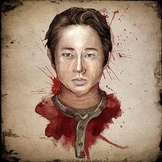 Glenn - The Walking Dead Artwork