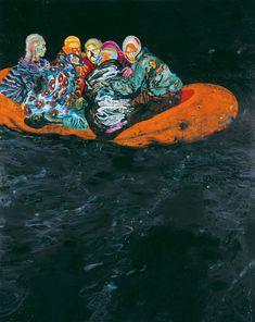 Daniel Richter, Tarifa, 2001. Oil on canvas, 350 x 280 cm. Collection Ken and Helen Rowe, London. © Bildrecht, Vienna, 2017. 21er Haus Vienna - Exhibitions