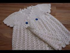 Vestido Crochet para Niña de 1 año parte 1/2 - YouTube