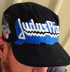 80s sombrero de sacerdote de JUDAS / rara gritando para venganza Judas sacerdote ciclo Hat pintores Cap concierto Tour bebe Hat
