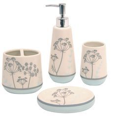 @Overstock   The Simplicity Blue Boutique Bath Accessory Set Includes  Everything You Need To Update