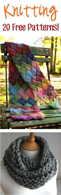 20 Free Knitting Patterns! #tips #thefrugalgirls