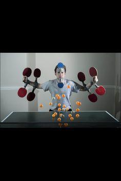 Table tennis boss. Photo by Alex Jefferis