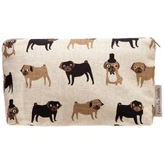 Fenella Smith Pug Make Up Bag (£19) ❤ liked on Polyvore featuring beauty products, beauty accessories, bags & cases, bags and brown