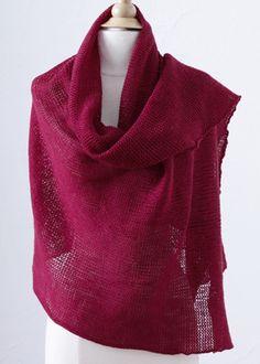 Stockinette wrap.  Knitting machine pattern by Lion Brand.