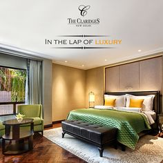 The suites and rooms at The Claridges Hotel offer a boutique 5 star setting, perfect for luxurious breaks in Delhi!