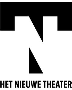 Logo design Het Nieuwe Theater Eindhoven. Please note the hidden 'N' connecting the two parts of the 'T'.