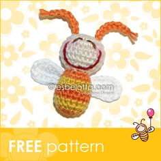 """Today is the first-week-birthday of """"esbelotta Amigurumi press""""! I want to celebrate this special day with a special gift for you: es-BEE-..."""