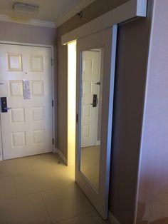 Mirror Sliding Door To Bathroom
