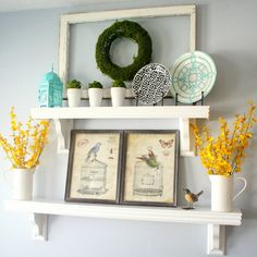 Decorative shelves @ The House of Smiths