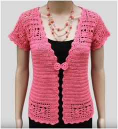 Lace Cardigan Jacket Crochet Tutorial – Craft Addicts