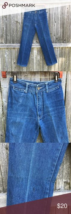 🐴 Vintage 80's Jordache Jeans One stain on leg- see photo.  High waist non stretchy denim Would be cute made into cutoff jean shorts! I'm not sure exactly what size it equates to in today's sizes but I wear a 2 and they are too small for me. I will post measurements shortly. Jordache Jeans