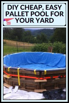 2x4 Wood Projects, Outdoor Projects, Fun Projects, Pallet Pool, Diy Pallet, Outdoor Art, Outdoor Living, Diy Pool, Home Hacks