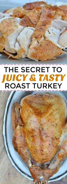 The easiest roast turkey recipe I've ever tried also turned out the BEST. If you're making Thanksgiving dinner this year, you need to check this out. :)