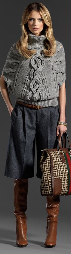 A real winner sweater to wear with a nice leather skirt! Gucci. Love the sweater!!
