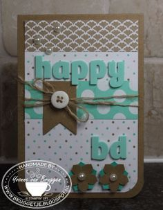 Yvonne's Stampin'& Scrap blog: Stampin' Up! Happy birthday card