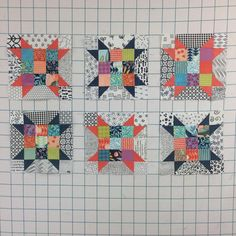 """51 Likes, 2 Comments - Carol Fun (@carolfun53) on Instagram: """"What I accomplished at my Bonnie Hunter workshop yesterday… Sisters choice blocks #quiltville…"""""""
