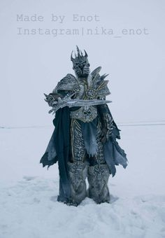 Full Arthas The Lich King Cosplay Costume Armor от EnotArtStore