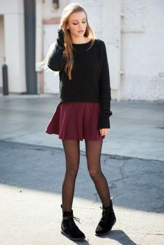 tube skirt with knee length boots - Google Search
