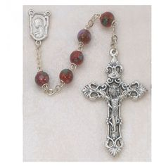 7MM RED CLOISSONNE ROSARY