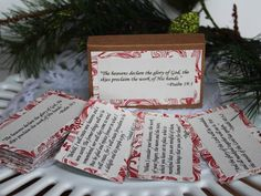 Bible Scripture Cards Glory and Adoration Christmas bible verse cards Worship in Psalm prayer cards Christmas gift by BellaBoutique23 on Etsy
