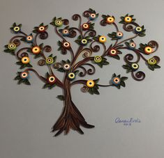 Tree of Life with Evil Eyes. Quilling by Canan Ersöz. June 05, 2018