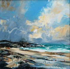Concentrating on atmosphere and energy 'Blustery day, Islay'