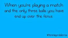 #tennisproblems tennis problems