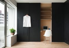 Not sure what you guys suggest for the bedroom closet doors? This might be too heavy and bold, or not. Or should we put mirrors here? What do you guys suggest?